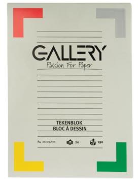 Gallery tekenblok ft 21 x 29,7 cm (A4), extra zwaar houtvrij papier, 190 g/m², blok van 20 vel