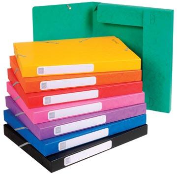 Exacompta Elastobox Cartobox rug van 2,5 cm, geassorteerde kleuren: groen, blauw, geel, rood, oranje, ...