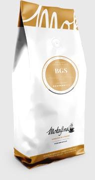 Mokafina BGS koffie gemalen, pak van 1 kg, sterkte van 7