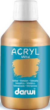 Darwi Metal effect acrylverf goud