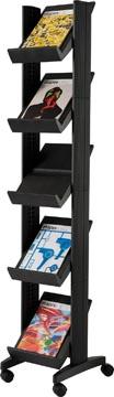 Paperflow Mobiele folderhouder Corner Compact zwart