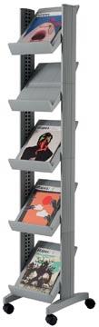 Paperflow Mobiele folderhouder Corner Compact zilver