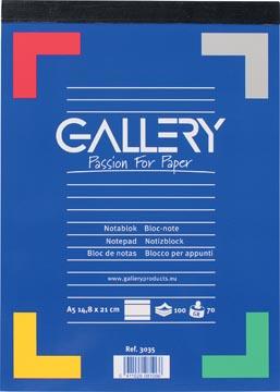 Gallery schrijfblok, ft A5, gelijnd, blok van 100 vel