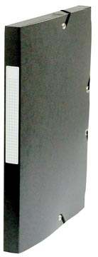 Pergamy elastobox, rug van 2,5 cm, zwart