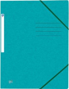 Oxford Top File+ elastomap, voor ft A4, aquablauw