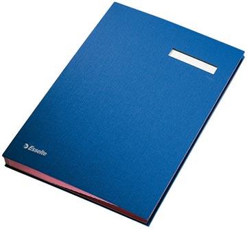 Esselte handtekenmap, ft A4, 20 vakken, blauw