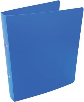 Alpha ringmap, voor ft A4, uit PP, 2 ringen van 25 mm, blauw