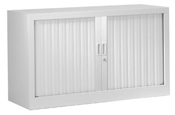 Roldeurkast, hoogte 69,5 cm, lichtgrijs