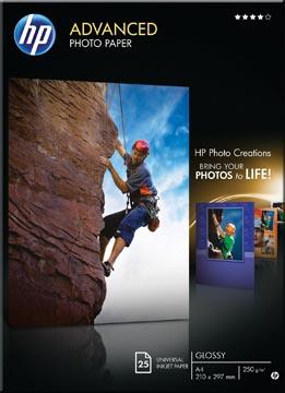 HP Advanced fotopapier ft A4, 250 g, pak van 25 vel, glanzend