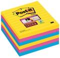 Post-it Super Sticky Notes, kleurenset Rio, ft 101 x 101 mm, gelijnd, 90 blaadjes