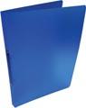 Alpha ringmap, voor ft A4, uit PP, 2 ringen van 16 mm, transparant blauw