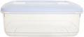 Whitefurze vershouddoos rechthoekig 4 liter, transparant met wit deksel
